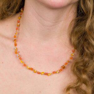 Náhrdelník Oranžový Z Korálků