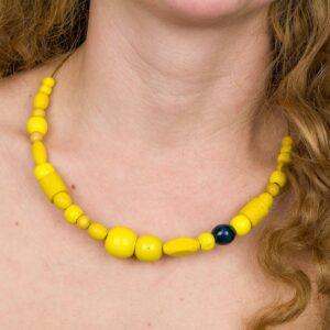 Náhrdelník S žlutými Korálky