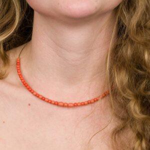 Náhrdelník S Oranžovýni Korálky